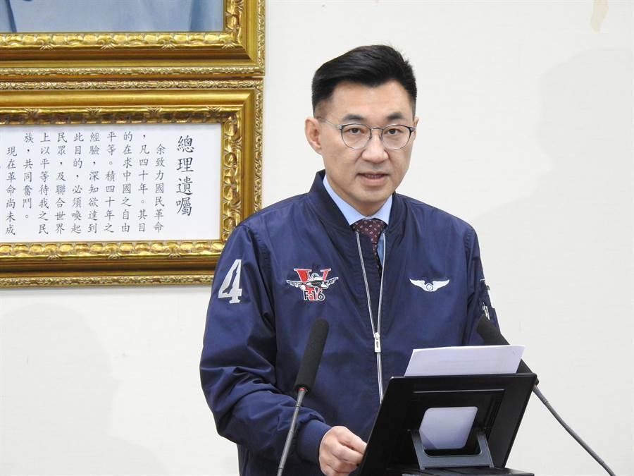 國民黨主席江啟臣。(資料照,趙婉淳攝)
