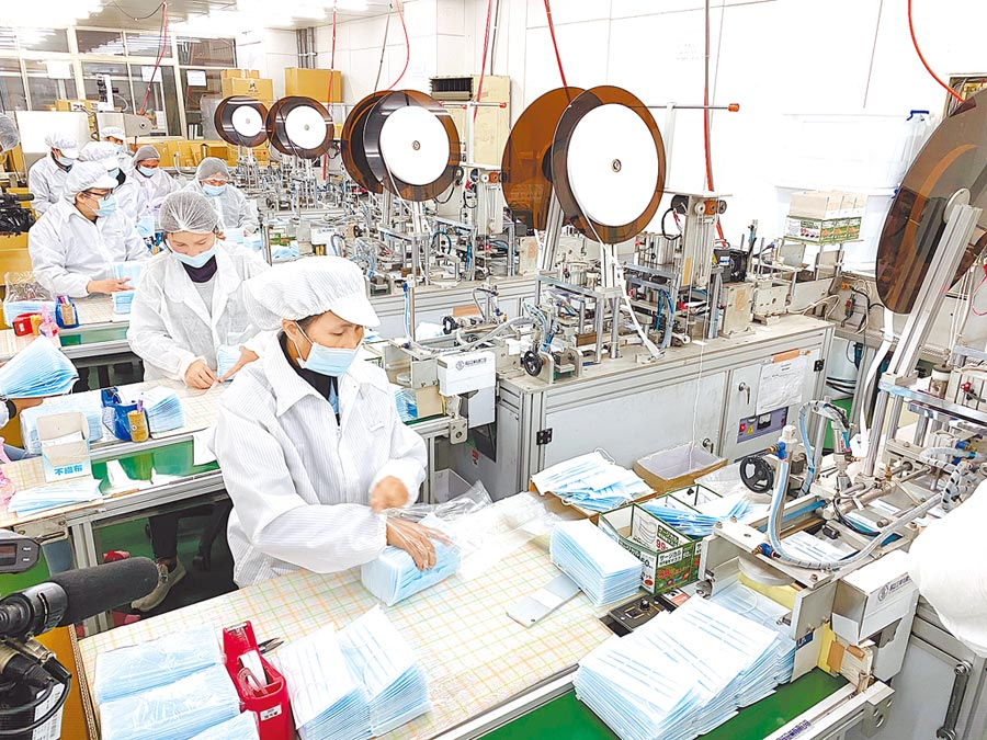 桃園口罩工廠。(本報系資料照片)