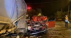 花蓮凌晨死亡車禍 休旅車女駕駛擦撞曳引車傷重不治