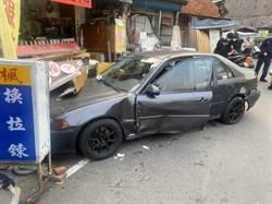 竊賊藏毒駕蛇駕3連撞16車 警追車逮2人
