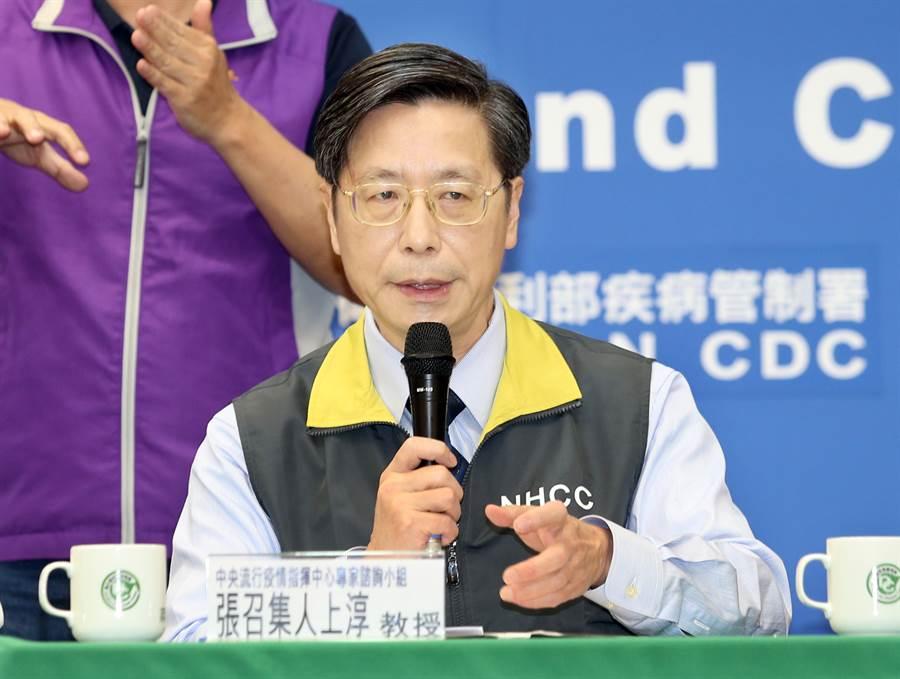 疫情指揮中心專家諮詢小組召集人張上淳(見圖)日前表示,有一兒子於3月4日出國,但未違反規定。(本報系資料照片)