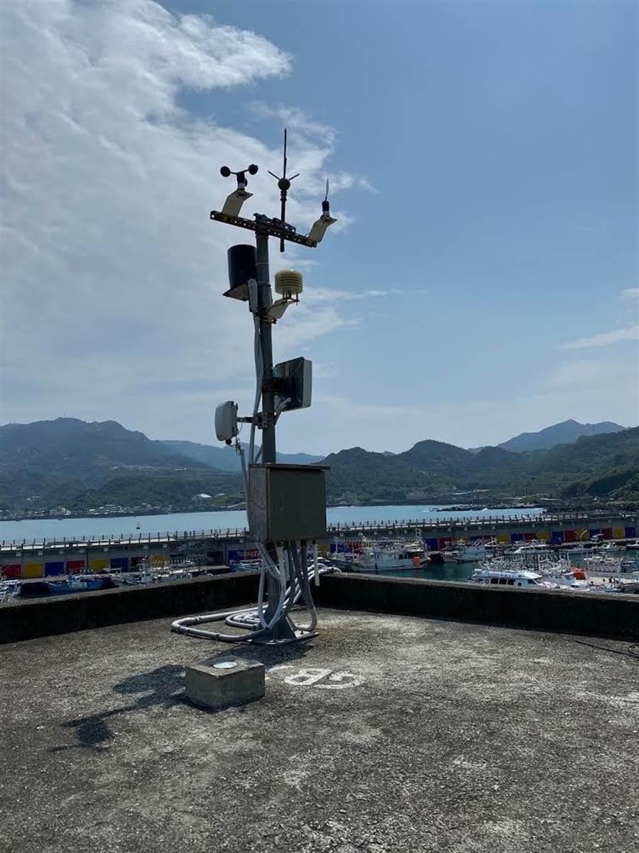 深澳漁港智能氣象站掌握第一手在地氣象。(新北市農業局提供/吳康瑋新北報導)