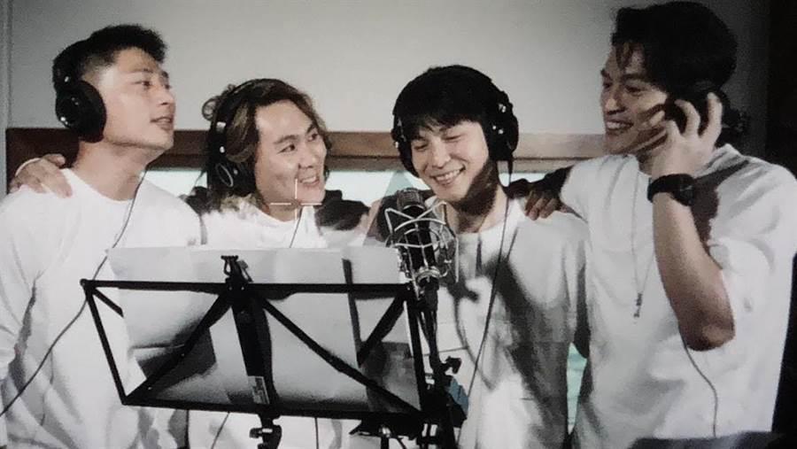 5566日前錄製公益歌曲。(星恆娛樂提供)