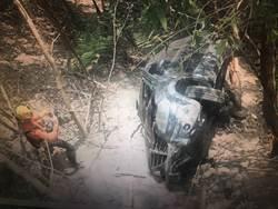 父子開車共遊六龜意外墜谷 95歲老翁身亡