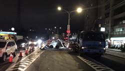 中和華中橋引道破損  區公所凌晨施工「煥然一新」