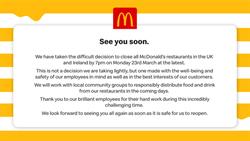 疫情增!英國關閉全境麥當勞