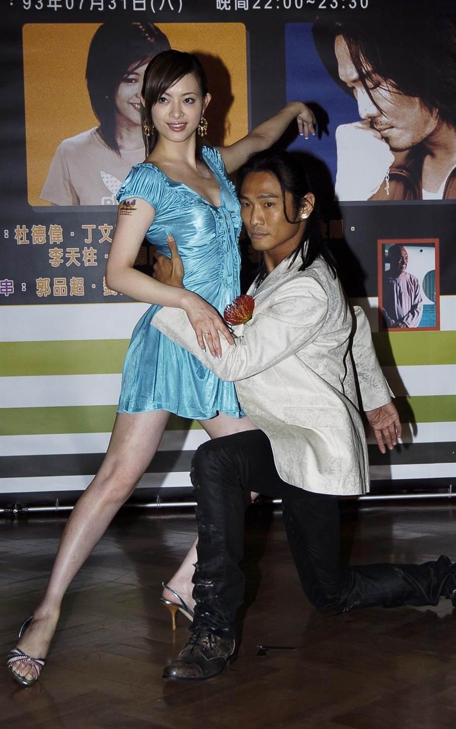 2004年劉真客串偶像劇《眉飛色舞》和杜德偉合作。(圖/中時資料照片)