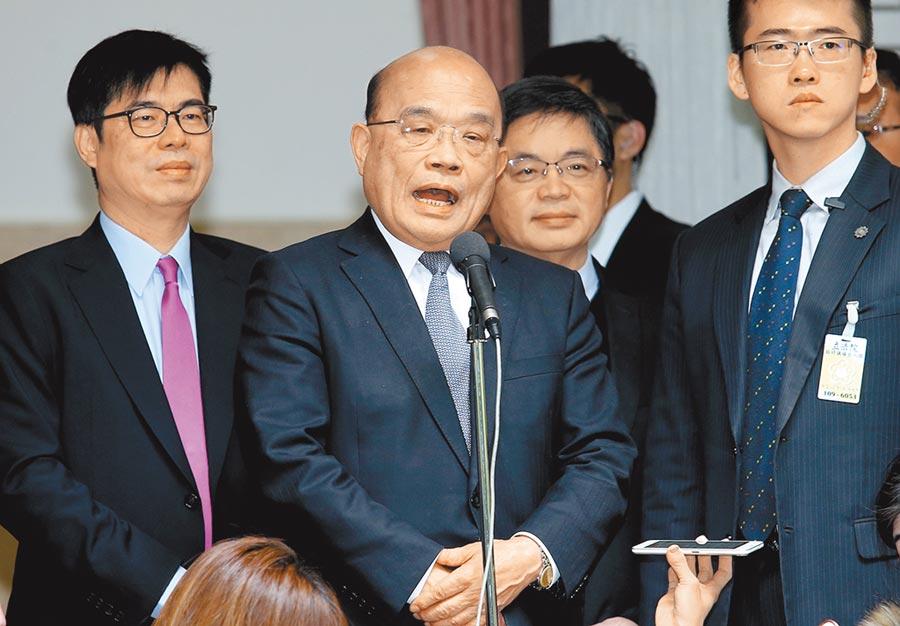 行政院長蘇貞昌在疫情正熾時調整國營事業人事,讓黨內派系之爭提前浮上檯面。(本報資料照片)