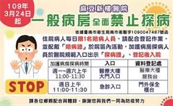 麻豆新樓醫院防疫升級 今起一般病房全面禁止探病