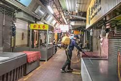 竹東取消春祭法會 加強市場消毒防疫