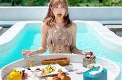 最美護士辣模瘋水上吃早餐!「深V超巨視角」引朝聖