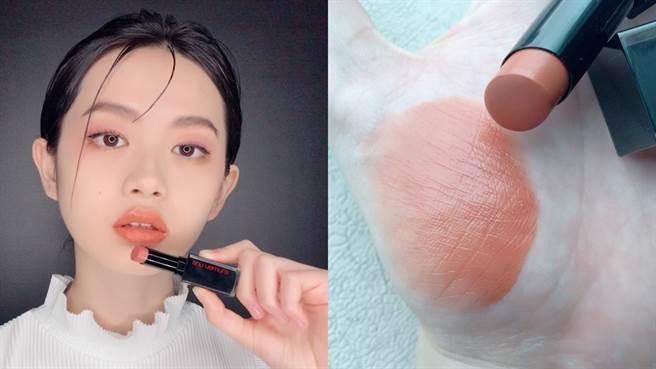 主打色:無色限緞光水潤唇膏#BG950西柚歐蕾。(圖/邱映慈攝影)