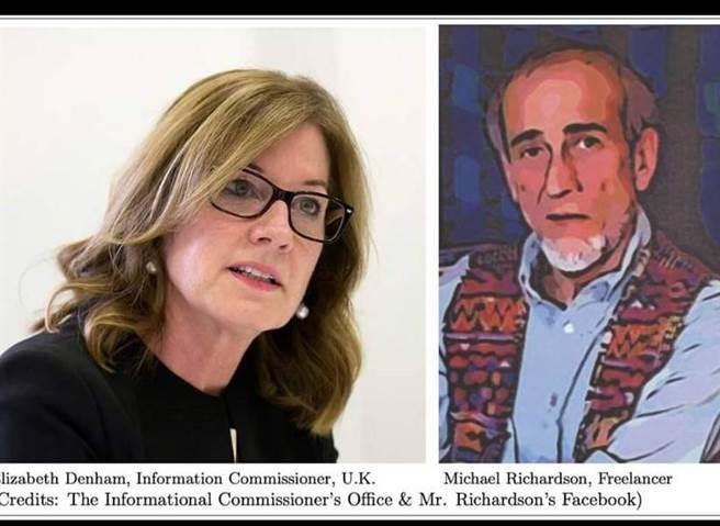 左為英國ICO主管德含女士,右為前專欄作家理查森(摘自林環牆臉書)