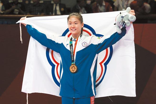 空手道女將文姿云不希望東京奧運延期。(中央社資料照片)