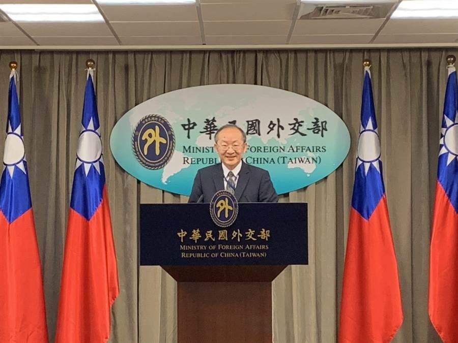 外交部國組司司長陳龍錦。(楊孟立攝)