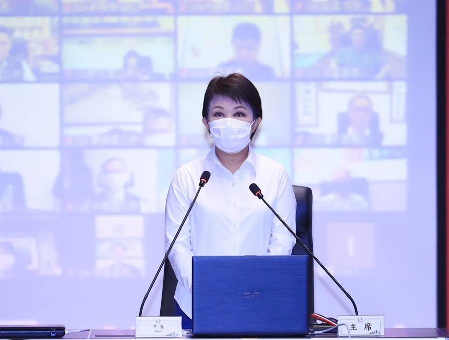 台中市長盧秀燕提醒各機關加強檢視相關視訊、網路設備,因應可能出現的居家辦公情形。(盧金足攝)