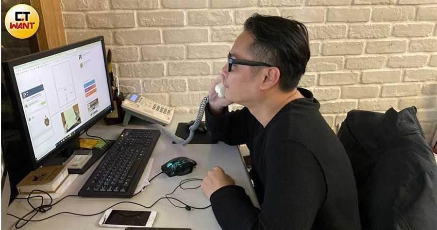 新北市議員鍾宏仁的黎姓助理指出,因為疫情的衝擊,議員許多公開行程都無奈取消。(圖/陳昭文攝)