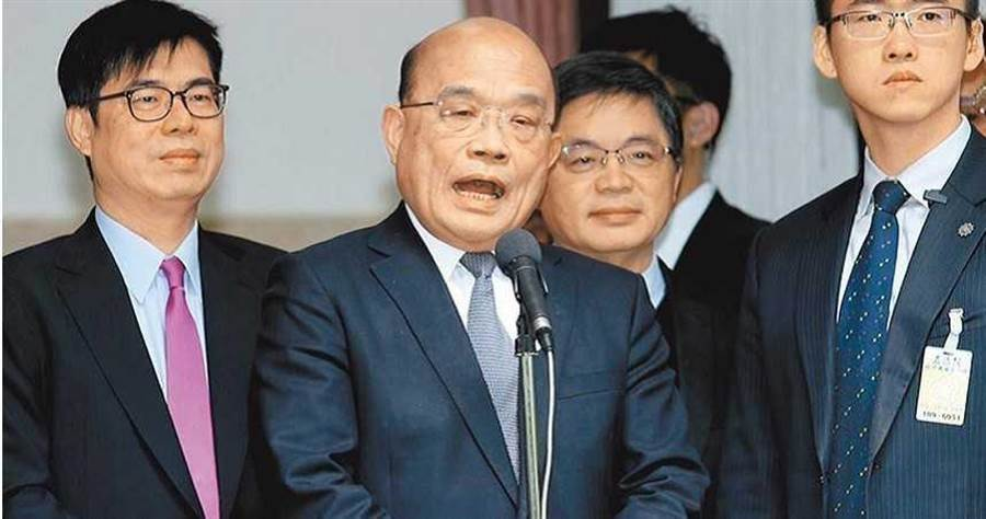 被暗指汽車撞飛機,郭榮宗:位高權重者沒有理由用不實數據傷自己同志。圖為蘇貞昌。(圖/曾薏蘋)