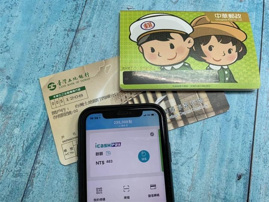 (icash Pay新增中華郵政及土地銀行銀行帳戶綁定。 圖/愛金卡公司提供)