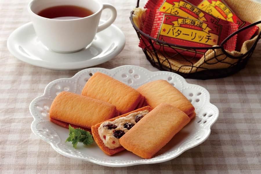 SOGO忠孝館春櫻展初登場,若狹屋本舗北海道奶油餅乾,每盒8入450元。(SOGO提供)