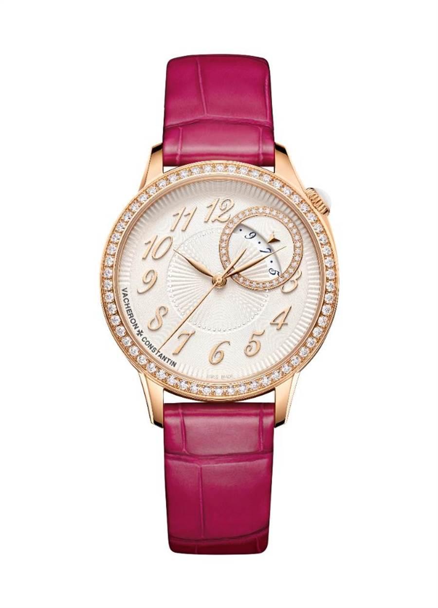 江詩丹頓新上市Egeria系列自動上鍊玫瑰金鑽表,94萬元。(Vacheron Constantin提供)