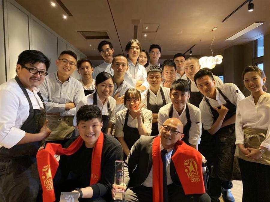 (台中JL Studio餐廳在今日公布的「2020年亞洲50最佳餐廳」排名中得到第26名。圖/JL Studio)