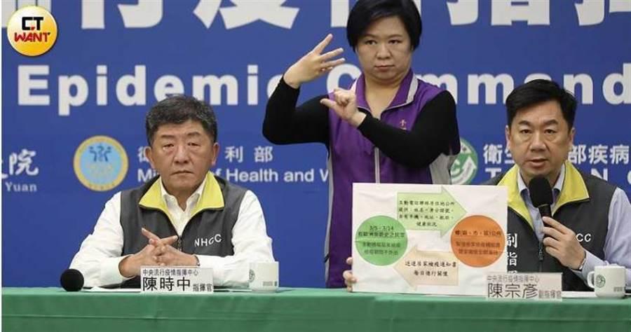 中央流行疫情指揮中心每天召開記者會,向國人公開透明報告疫情。(圖/張文玠攝)