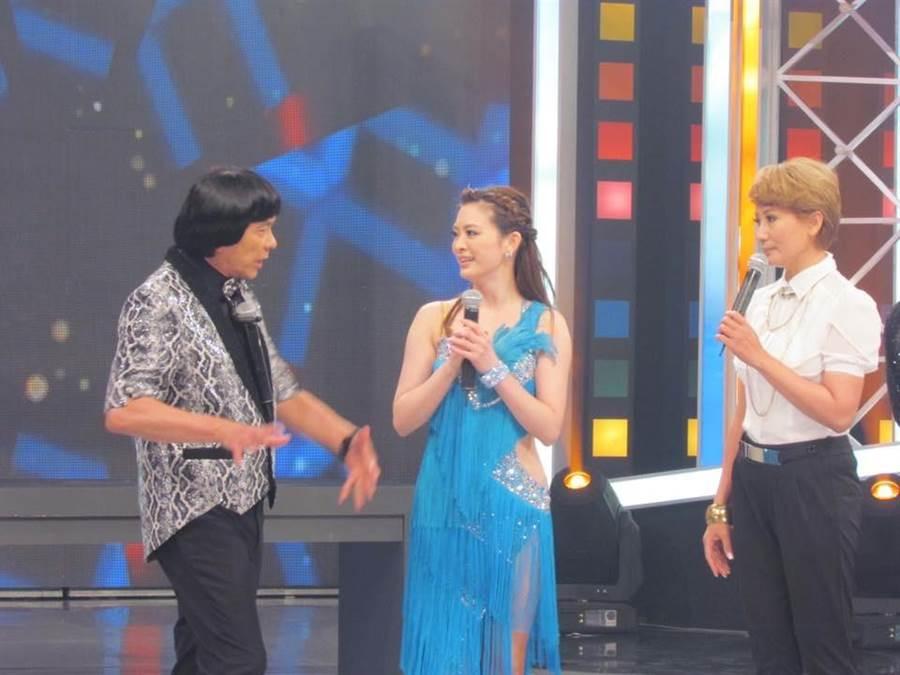 豬哥亮、陳亞蘭當年在節目中訪問劉真,如今影中人已有兩位不在人世。(摘自陳亞蘭臉書)