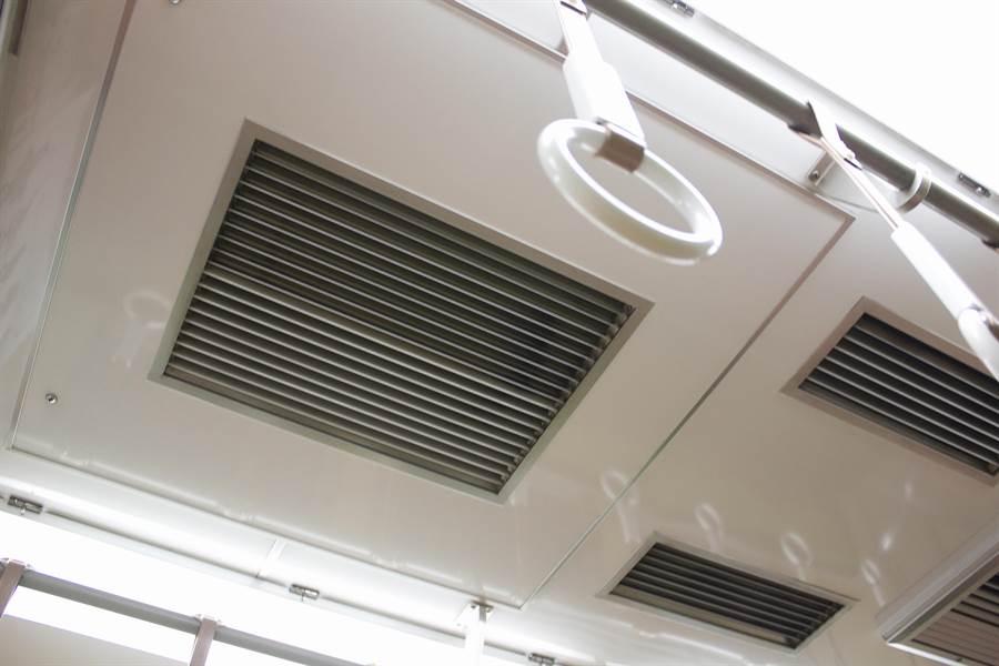 乘大眾交通工具時,千萬別選擇站在空調的「進排氣口」處,這邊最毒。(圖/Shutterstock)