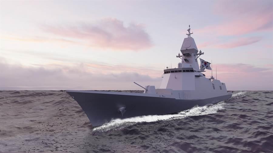 現代重工設計的FFX蔚山3型,取得韓國軍方的認可,將負責設計建造,預計2024完成首艘。(圖/現代重工)