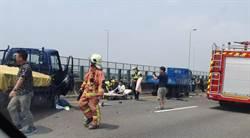 國道3號施工連環大追撞 3車撞成爛鐵3人送醫