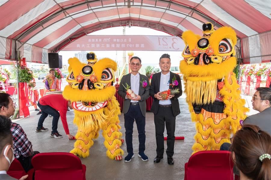 動土典禮由丞石建築董事長彭智祺親自主持。/圖業者提供