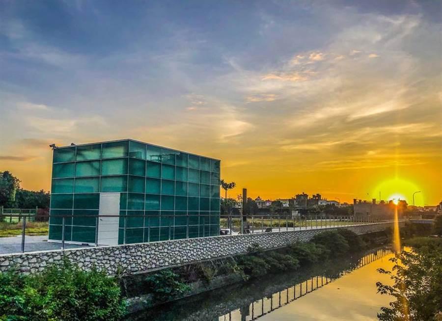 彰化鹿港溪水質淨化改善工程。(圖/崇越科技提供)