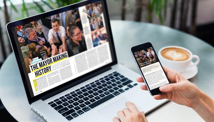 Kono電子雜誌讀者輕鬆使用電腦與手機閱讀300本以上國內外雜誌。(Kono提供/黃慧雯台北傳真)