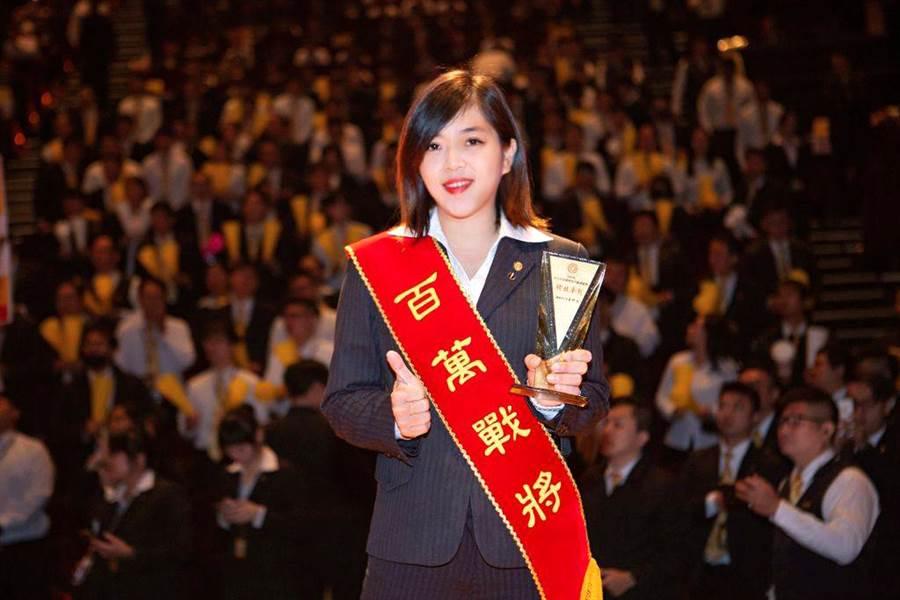 桑子涵以新人之姿登上百萬經紀人舞台。