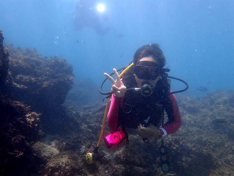 桑子涵在閒暇時間最喜歡去潛水。