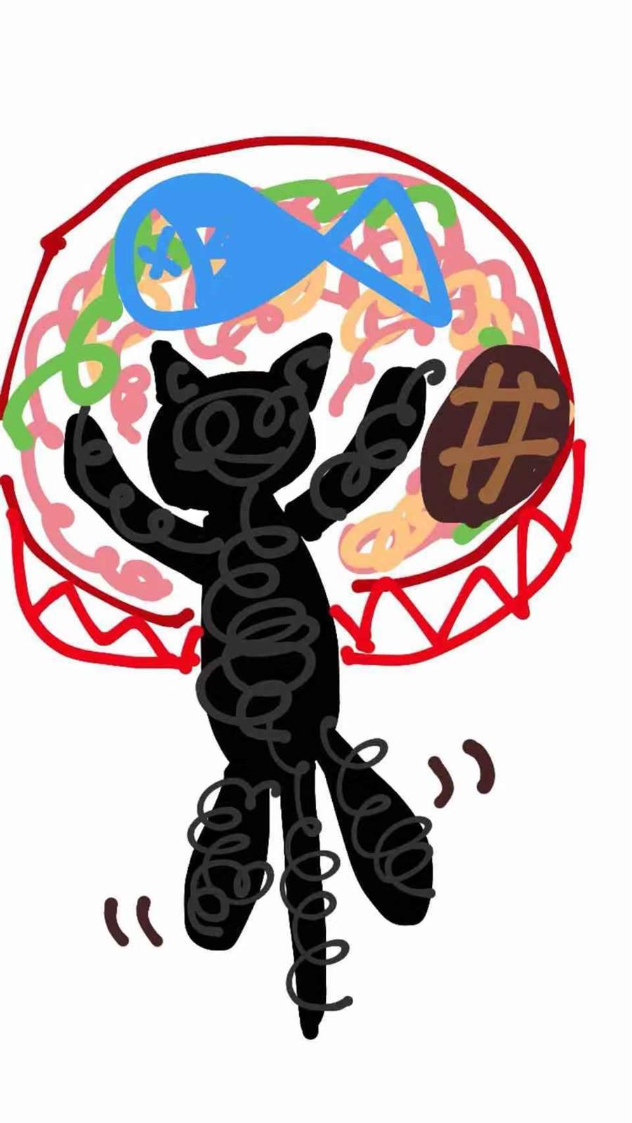 瑤瑤畫的諾諾貓。(作者提供)