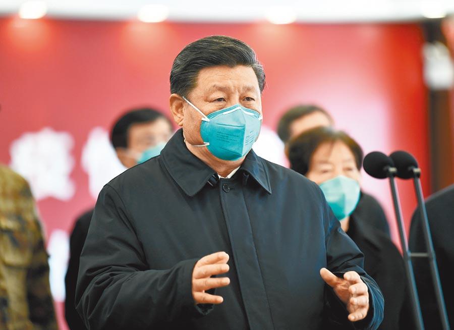 3月10日,大陸國家主席習近平在武漢考察新冠肺炎疫情防控工作。(新華社)