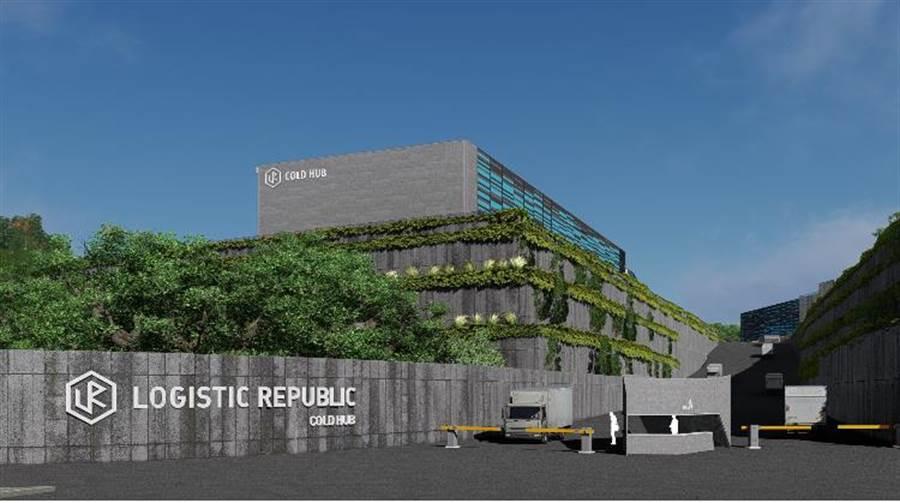 由國泰人壽投資的「物流共和國台北冷鏈園區」(LR Taipei Cold Hub)於25日正式開工動土。(國泰提供)