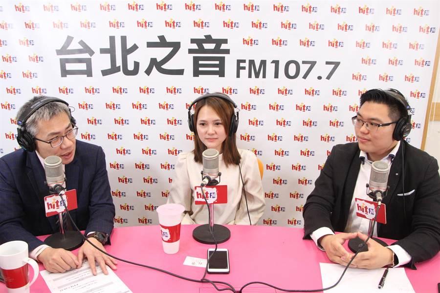 田方倫與吳怡萱接受「羅友志嗆新聞」採訪畫面(Hit Fm《羅友志嗆新聞》製作單位提)