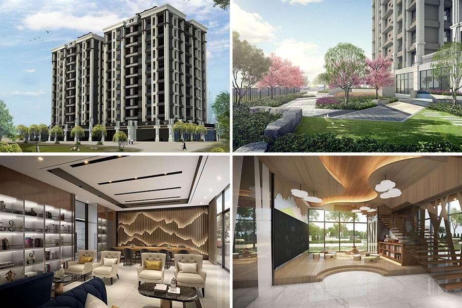 勤樸機構在八里市中心推出預售案「勤樸天逸」。