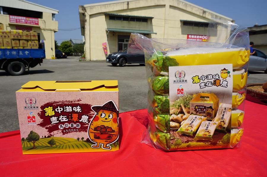 潭子農會獨家開發馬鈴薯麵,近來因民眾囤糧,銷量爆增3成。(王文吉攝)