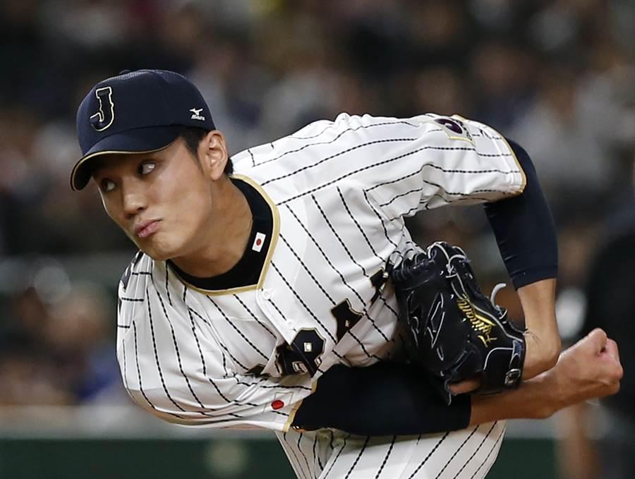 日職阪神虎投手藤浪晉太郎出現嗅覺失靈症狀,懷疑是感染了新冠肺炎要接受檢測。(美聯社資料照)