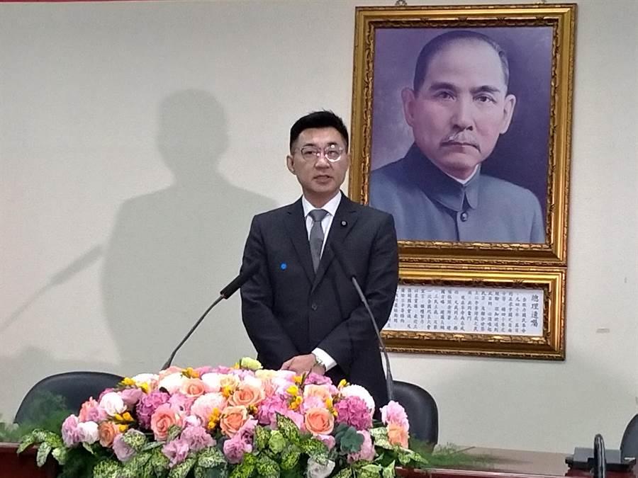 國民黨主席江啟臣正建構立院黨團、政策會、智庫為鐵三角,並擬兼任董事長。(黃福其攝)