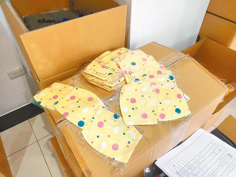 頭城鎮公所準備布製口罩套送給鎮上的小朋友當做兒童節禮物。(頭城鎮公所提供/胡健森宜蘭傳真)