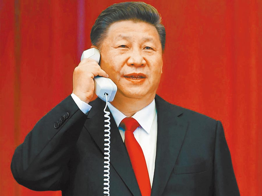 大陸國家主席習近平打防疫外交,與外國領袖頻通電話。(新華社資料照片)