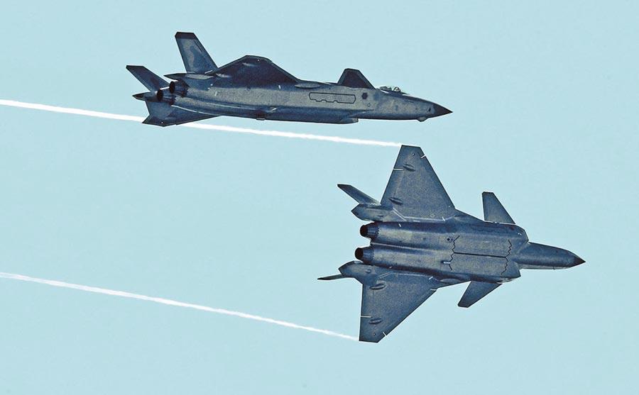 大陸殲-20戰機。(新華社資料照片)