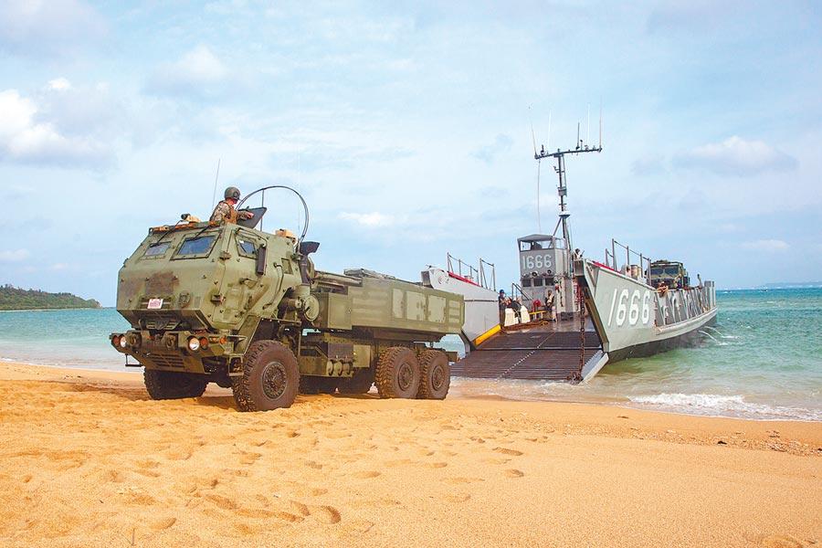 美軍高機動火箭炮系統「海馬斯」(HIMARS)。(取自美國海軍陸戰隊官網)