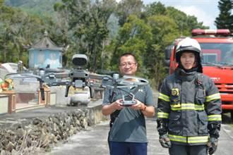 台東》防火宣導新招式 無人機空中宣導