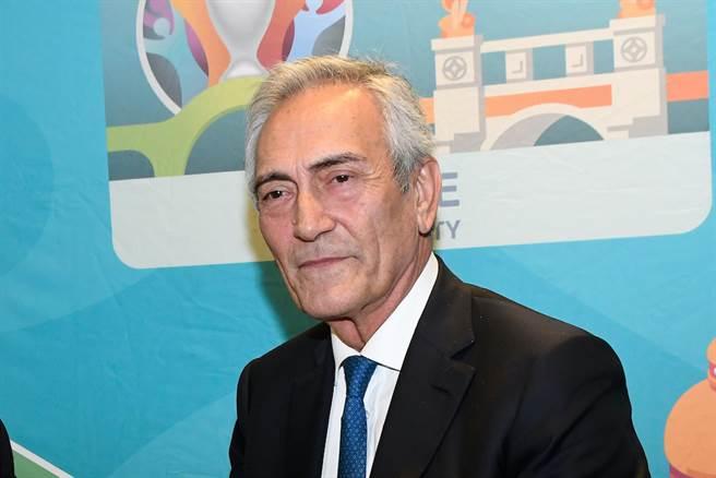Gabriele Gravina向政府提出義大利足球經營對策。(達志影像)